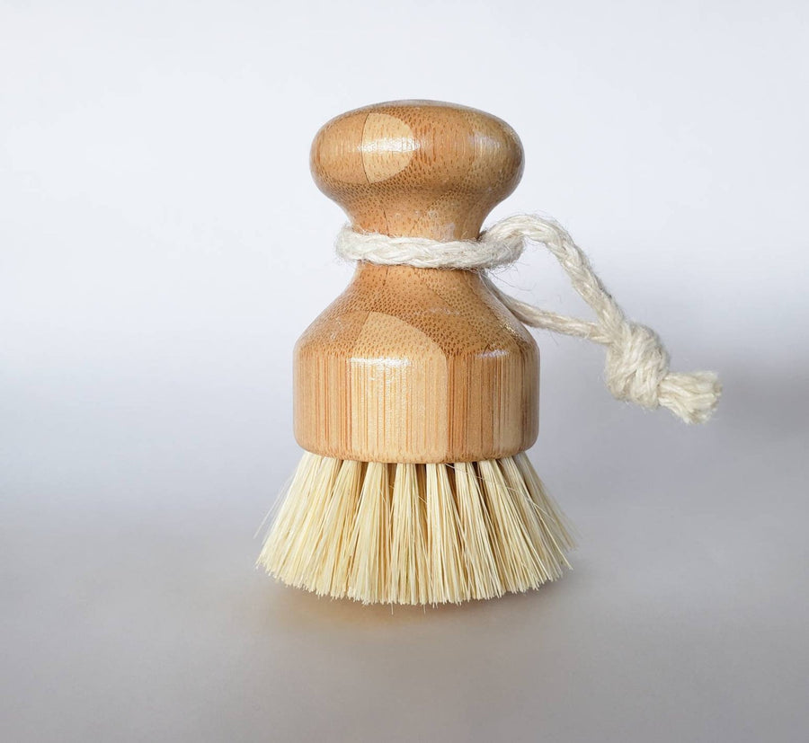 wood hemp kitchen scrub brush