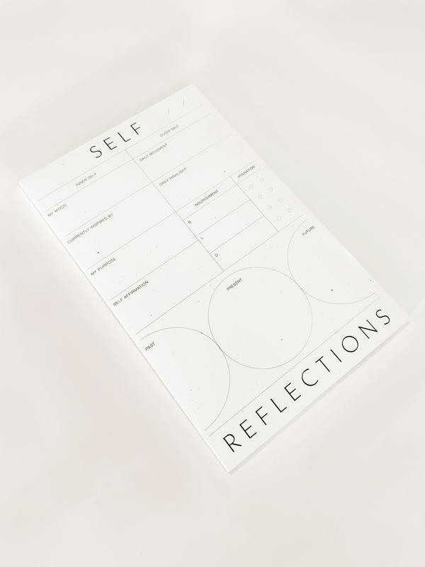 self reflections notepad