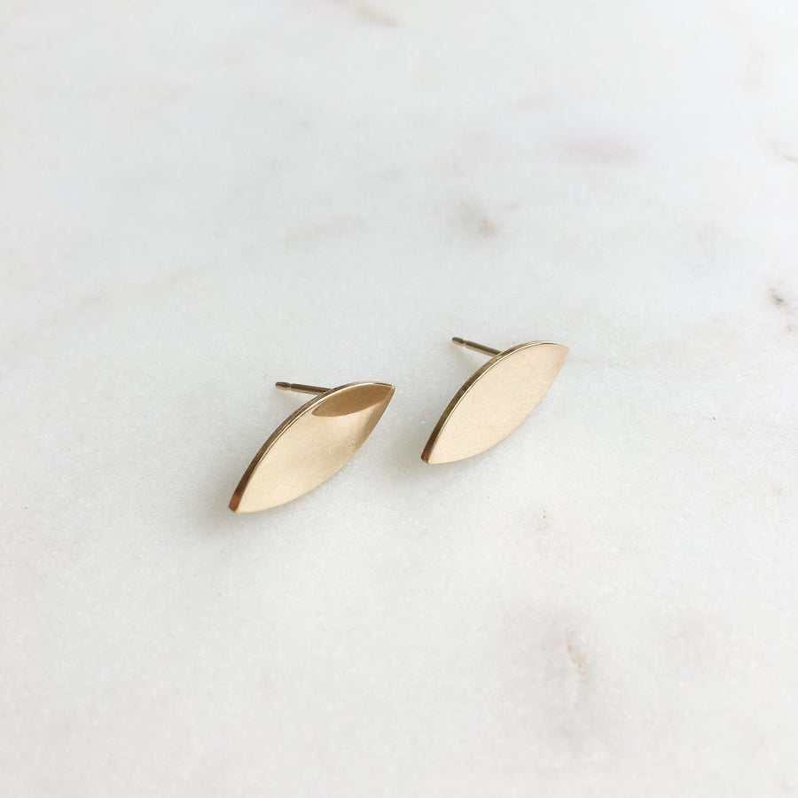 gold sliver earrings