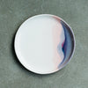 dipped ceramic dinner plate