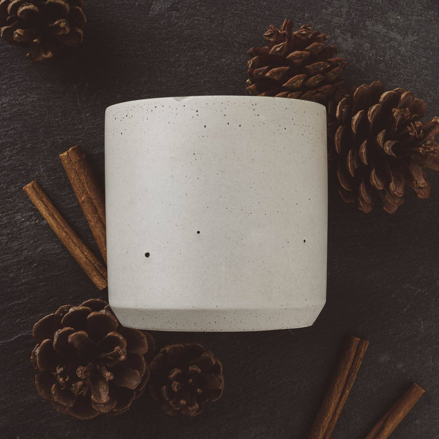 sweater weather cement candle