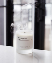 tangerine olive candle