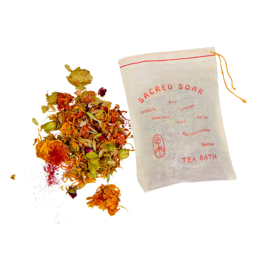 herb tea bath soak