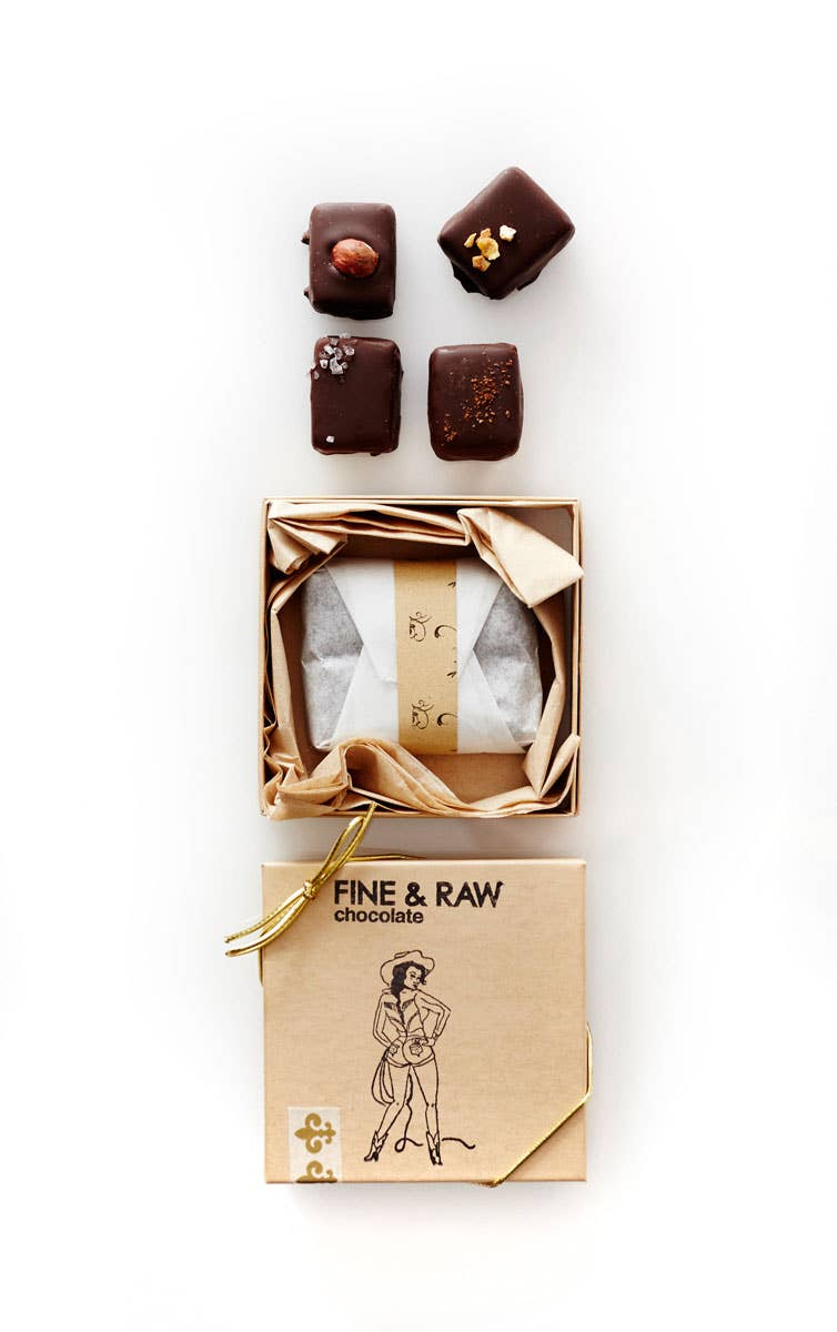 four piece chocolate truffle box