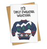 ugly sweater weather card