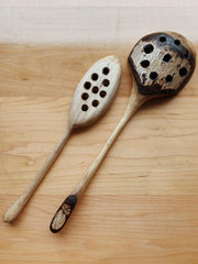 Walnut Slotted Kitchen Spoon