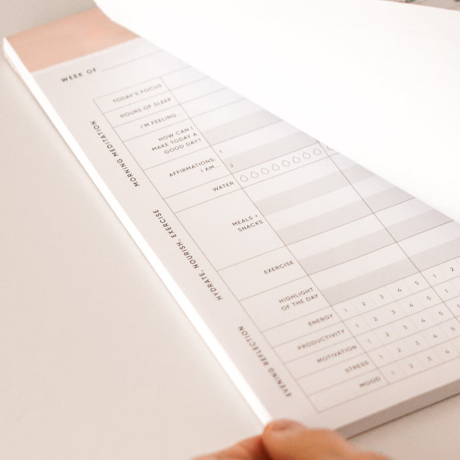 wellness tracker planning pad