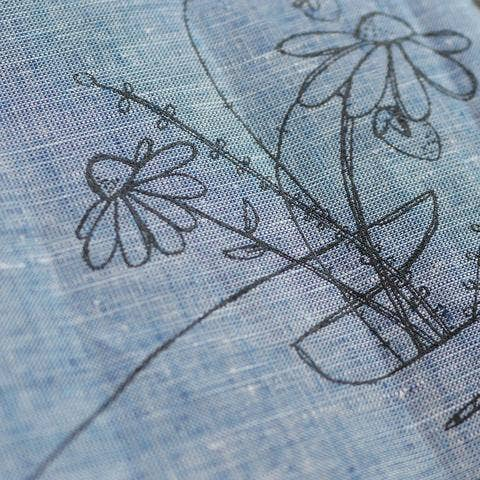 wildflower chambray kitchen towel