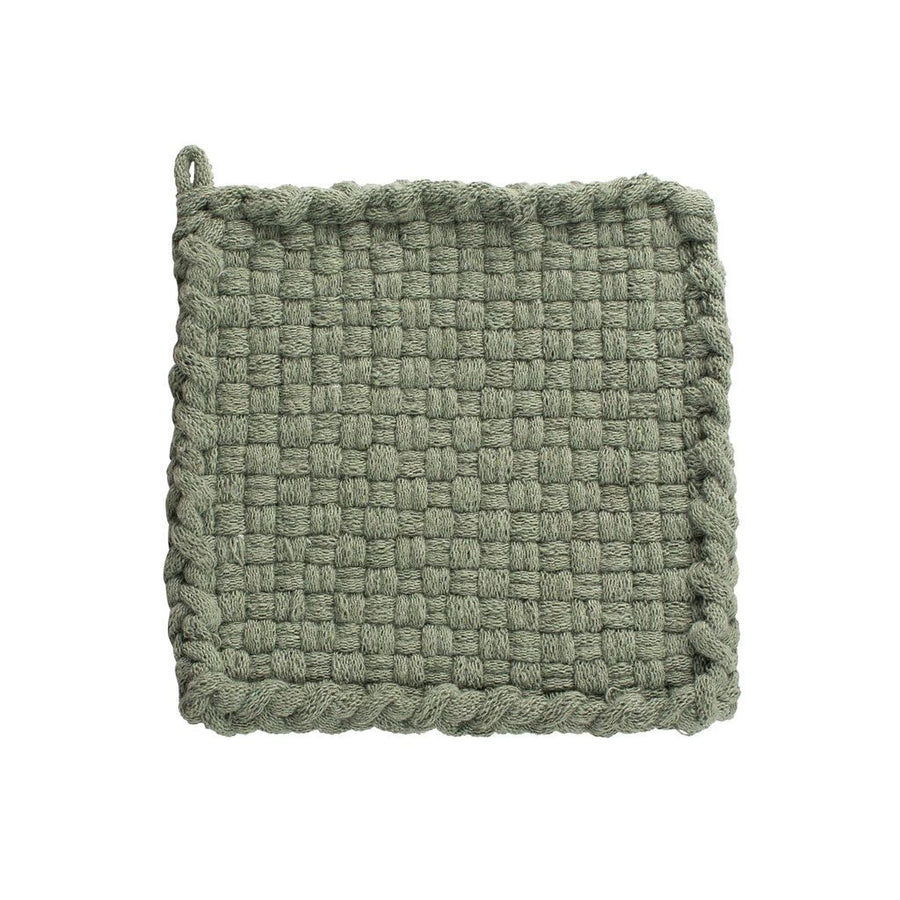 sage green potholder