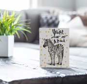 Zebra Sparkle Card