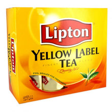 Load image into Gallery viewer, Lipton Yellow Lable 100 tea bag envelopes- شاي ليبتون ذو العلامة الصفراء - 100 كيس