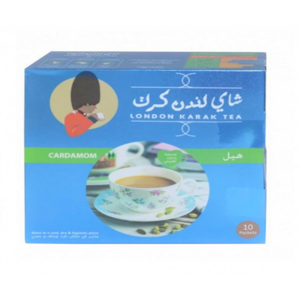 London Karak Tea 10 Packets Cardamom | شاي لندن كرك 10 اظرف هيل
