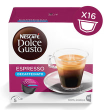 Load image into Gallery viewer, Nescafe Dolce Gusto  Esp Decaf Blue 16Cap  دولتشي جوستو ديكاف اسبروسو