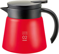 Hario – V60 Heat Retaining Stainless Server 600ml – Red