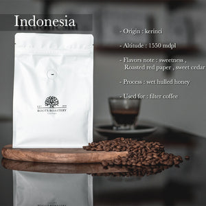 Roots Roastry  Indonesia Gayo Kerinci  -Filter 250 gm