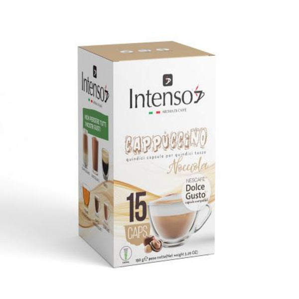 Intenso - Cappuccino with Hazelnut Dolce gusto   |  كبسولات انتينسو - كابتشينو بالبندق