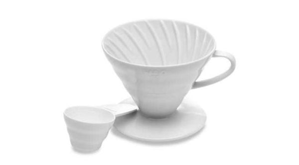 Hario-V60 Ceremic Cone Dripper White Size 02