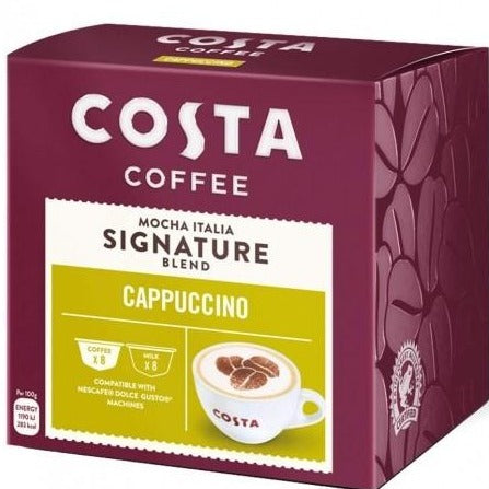 Costa Cappuccino Coffee  Dolce Gusto Caps-كوستا كوفي - كبسولات كابتشينو دولتشي جوستو 16 كبسولة