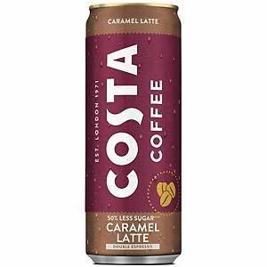 Costa caramel latte 250ml |كوستا كراميل لاتيه