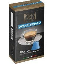 Caps Decaffeinato Nero Nobile كبسولات قهوة ديكاف