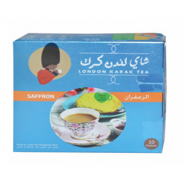 London Karak Tea 10 Packets Saffron | شاي لندن كرك زعفران
