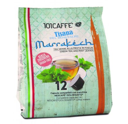 101 Tea Verde e Menta in foglia- green tea Marrakesh 12 pcs DolceGusto | كبسولات شاي مراكش الاخضر