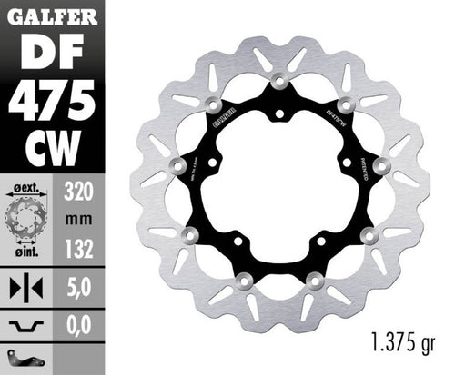 Galfer Wave Rotor Front DF475