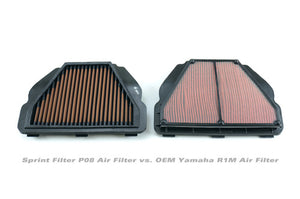 Sprint P08 Air Filter - 2015+ Yamaha R1 / 2017+ Yamaha FZ10 & MT10