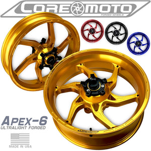 Core Moto APEX-6 Wheelset for 2015+ Yamaha R1