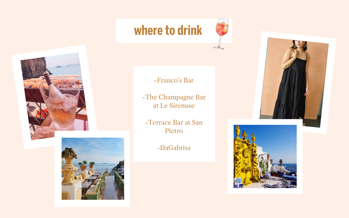 Favorite Spots to Get a Drink in Positano