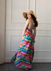 Palm Beach Rainbow Cover-Up Maxi Dress