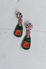 Prosecco Bottle Statement Earrings