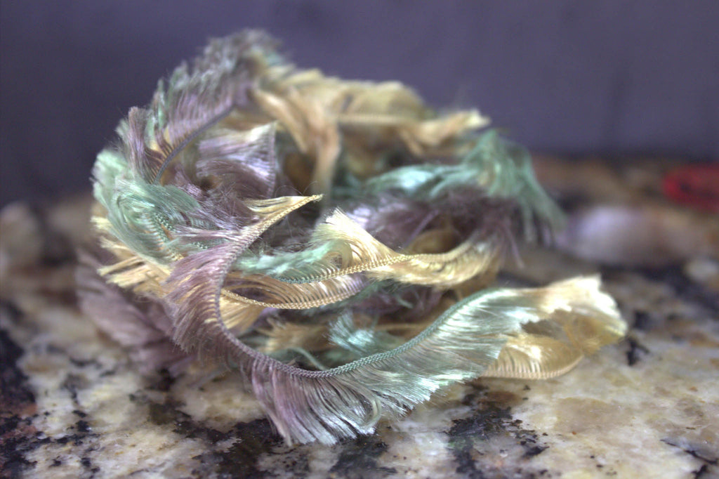 hippie hackle body wrap army green