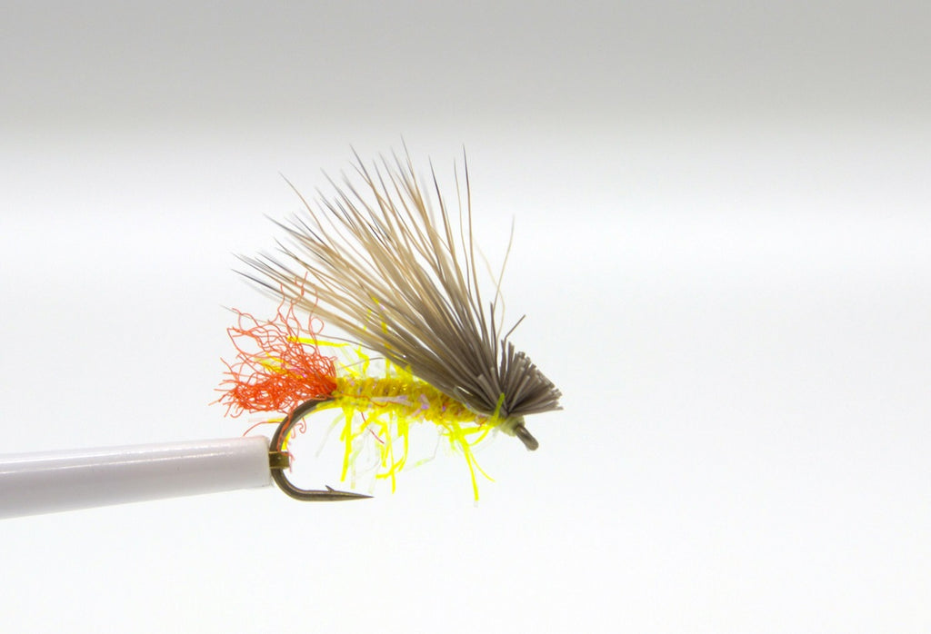 Straggle String Yellow Sally Dry Fly