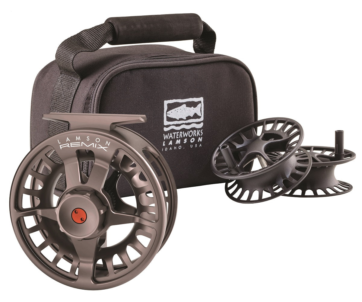 WaterWorks-Lamson Remix 3-Pack Fly Fishing Reel & Spools