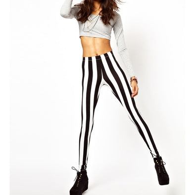 Black and White Fashion Leggings