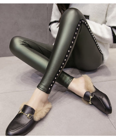 PU Leather Funky Leggings