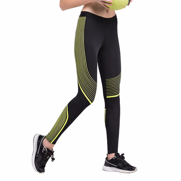 Stripes Quick Dry Compression Leggings