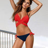 Le Push Up Cross Patchwork Bikini