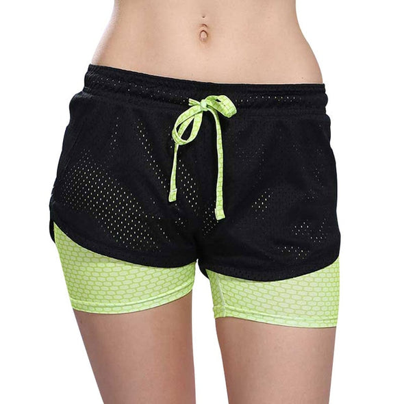 2 In 1 Women Athletic Shorts