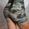 Camo Sexy Sport Shorts With Side Phone Pocket