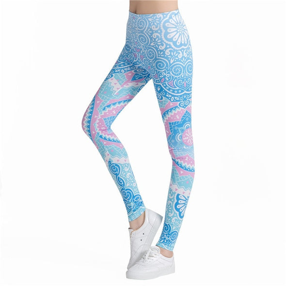 Round Ombre Printing Leggings