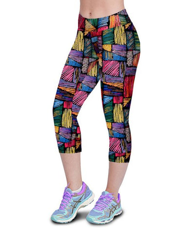 Fashion Plus Size Capris Leggings