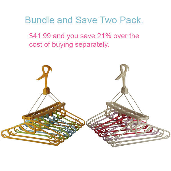 Bundle and Save. Buy 2 or more Pastelvarie Flower Laundry Clothes Hanging Dryer with 8 Hangers and Save over 21% of the cost of buying individually.