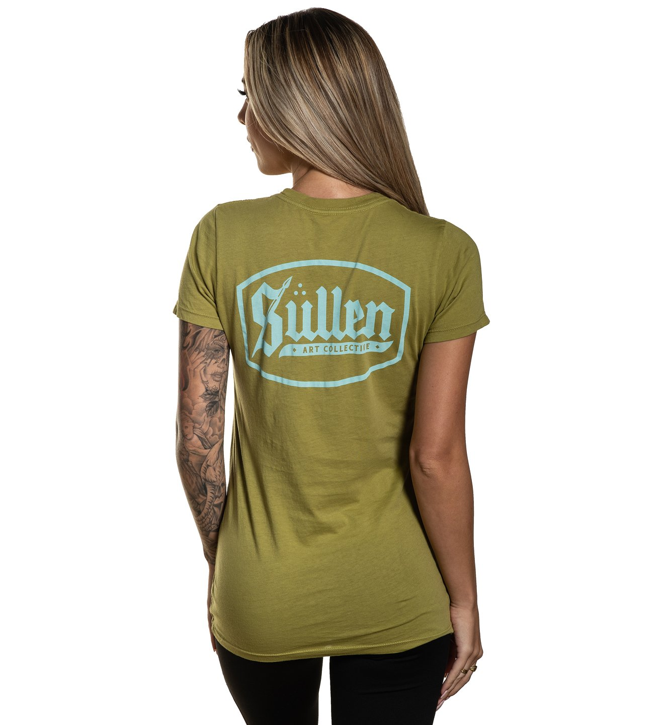 SHIELD BADGE OLIVE TEE