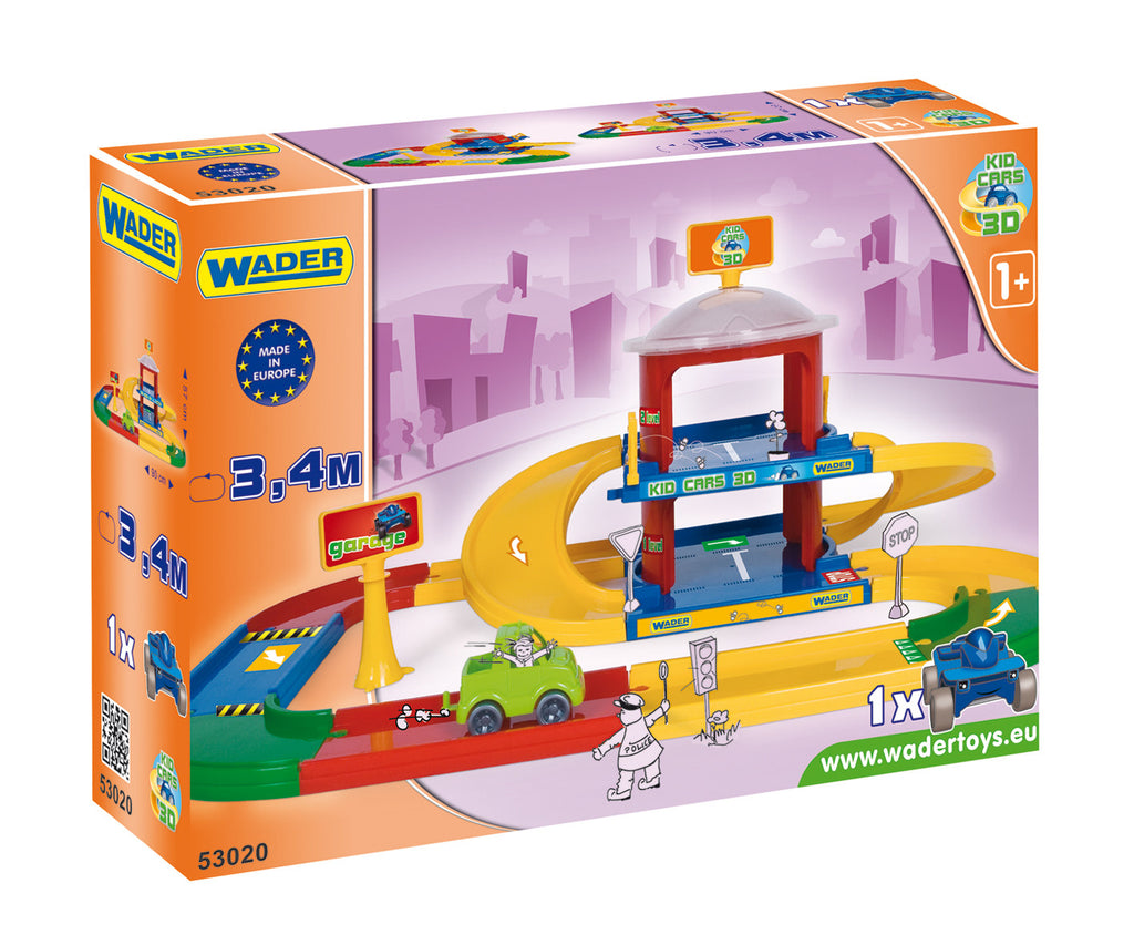 Kid Cars 3d Garage 2 Levels Toy Essentials