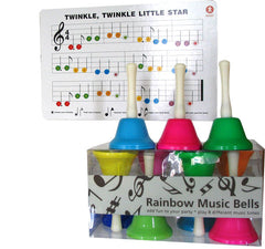 Rainbow Music Hand Bells (set of 8)
