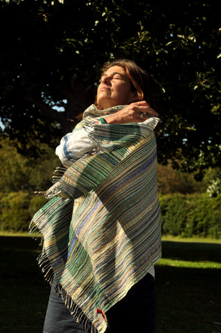 Hand Embroidered Woollen Shawl