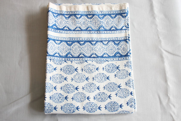 Pineapple Indigo Block Printed Throw
