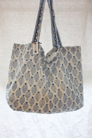 Pineapple Block Print Bag